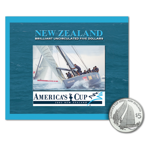 2003 America's Cup Brilliant Uncirculated Coin