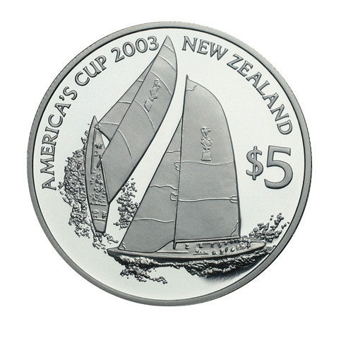 2003 America's Cup Silver Proof Coin