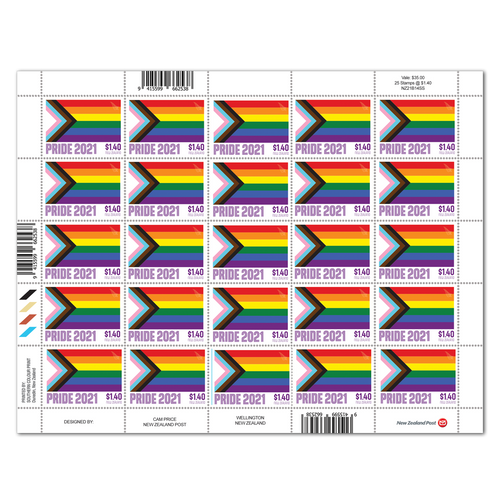 2021 Pride $1.40 Stamp Sheet
