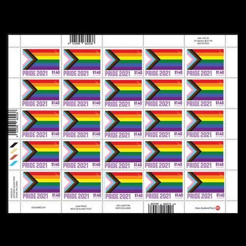 2021 Pride $1.40 Stamp Sheet
