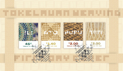 Tokelau Weaving 2020 First Day Cover