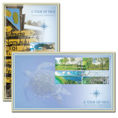 2014 Scenic Definitives - A Tour of Niue Set of First Day Covers