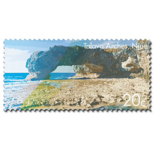 2014 Scenic Definitives - A Tour of Niue 20c Stamp