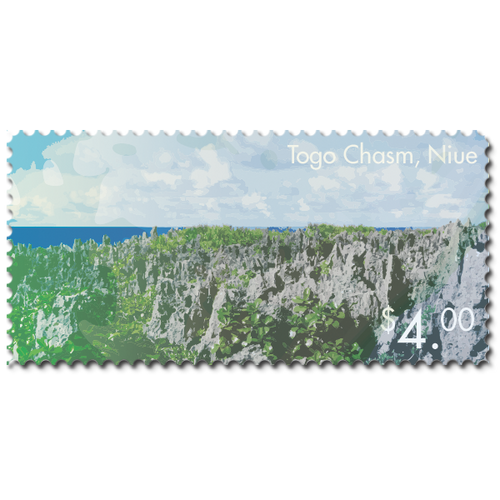 2014 Scenic Definitives - A Tour of Niue $4.00 Stamp
