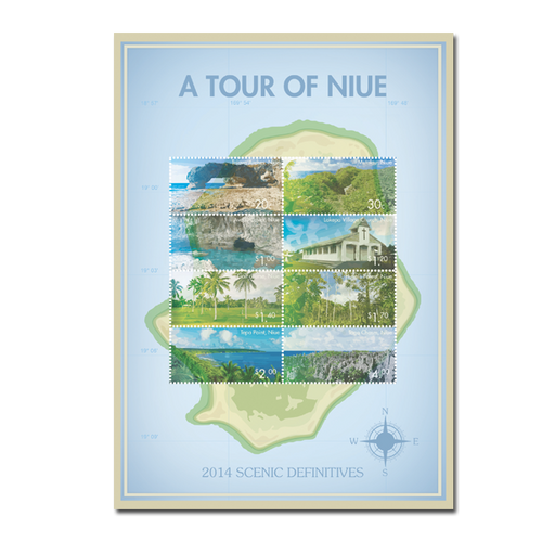 2014 Scenic Definitives - A Tour of Niue Sheetlet of Mint Stamps