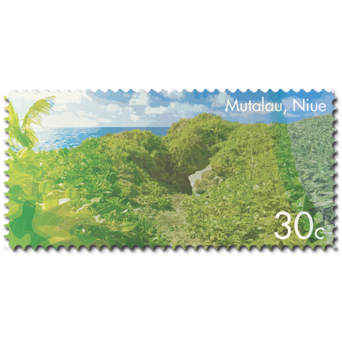 2014 Scenic Definitives - A Tour of Niue 30c Stamp