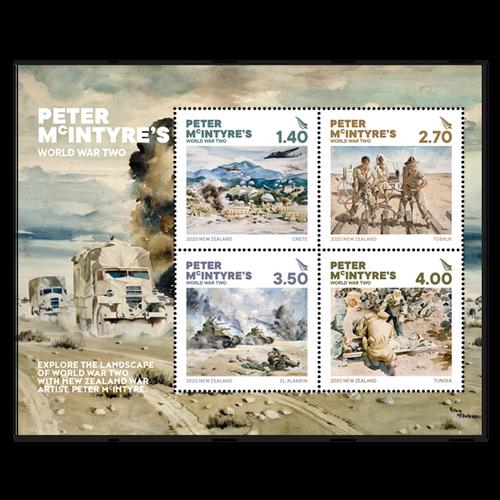 2020 Peter McIntyre's World War Two Cancelled Miniature Sheet
