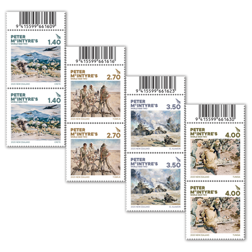 2020 Peter McIntyre's World War Two Set of Barcode B Blocks