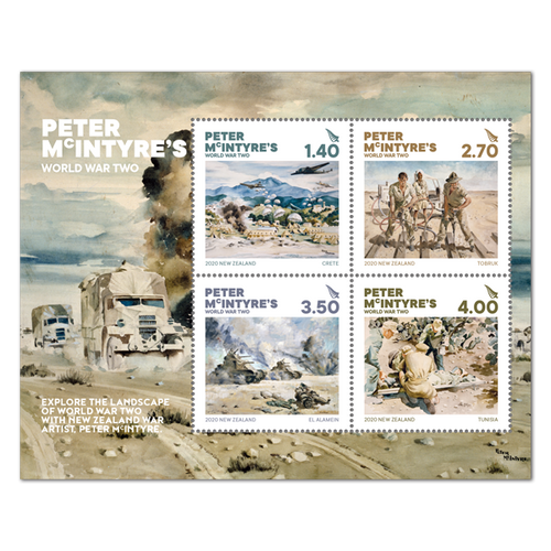 2020 Peter McIntyre's World War Two Used Miniature Sheet