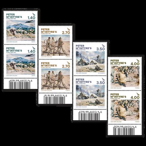 2020 Peter McIntyre's World War Two Set of Barcode A Blocks