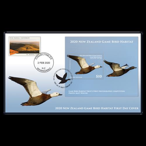 2020 Game Bird Habitat Miniature Sheet First Day Cover