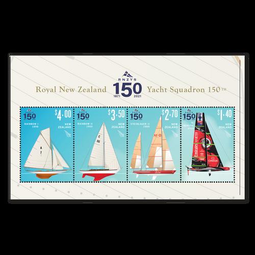 2021 RNZYS 150 Used Miniature Sheet