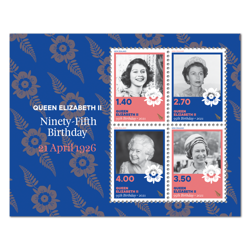 2021 Queen Elizabeth II Ninety-Fifth Birthday Used Miniature Sheet