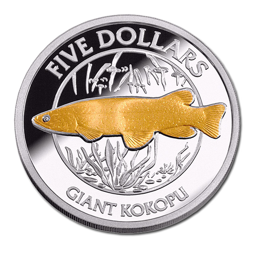 2003 New Zealand Annual Coin: Giant Kokopu Silver Proof Coin