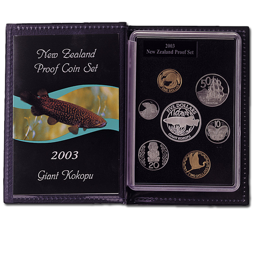 2003 New Zealand Annual Coin: Giant Kokopu Silver Proof Set