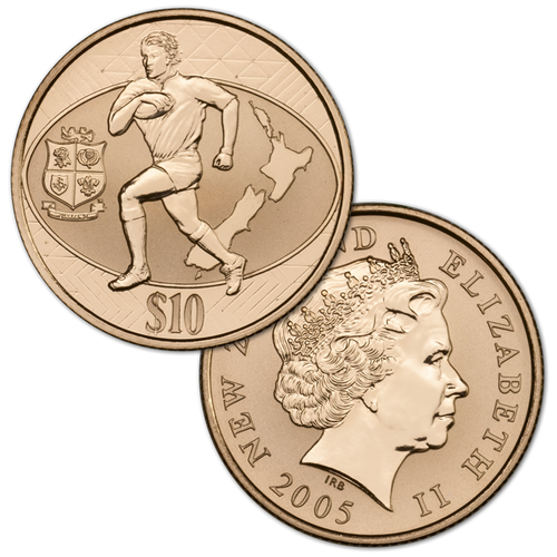 DHL New Zealand Lions Series 2005 Brilliant Uncirculated Coin