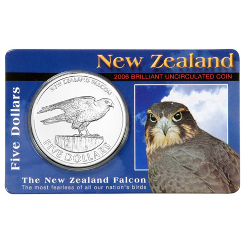 2006 New Zealand Falcon Brilliant Uncirculated Coin