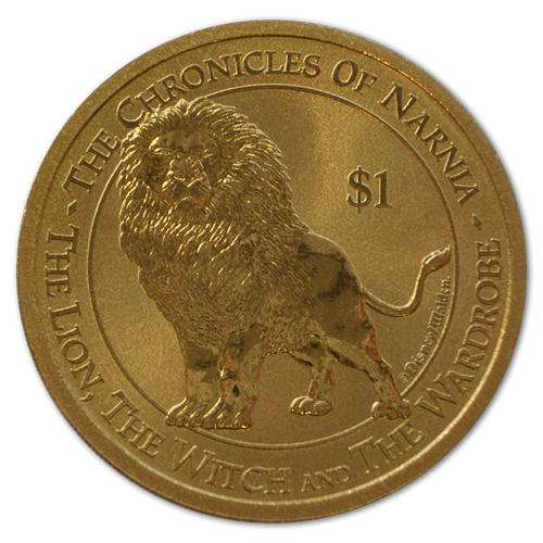 2005 The Chronicles of Narnia - The Lion, The Witch and the Wardrobe Brilliant Uncirculated Coin - Aslan