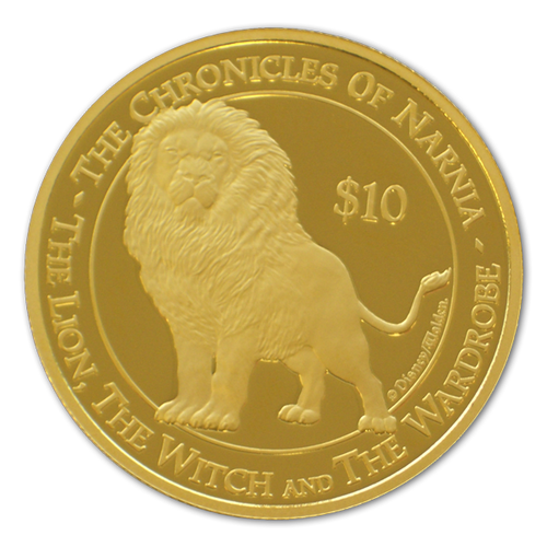 2005 The Chronicles of Narnia - The Lion, The Witch and the Wardrobe Gold Proof Coin - Aslan