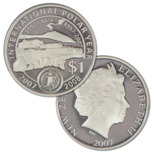 2007 Scott Base 1957 - 2007 Silver Proof Coin