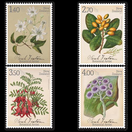 2021 Sarah Featon - Botanical Artist Set of Used Stamps