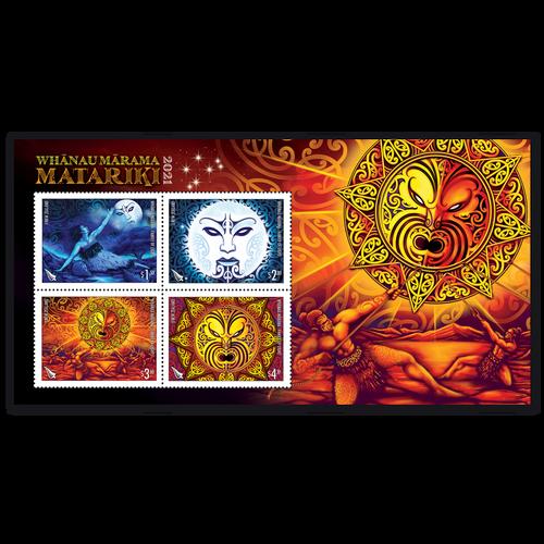 2021 Whanau Marama - Family of Light Used Miniature Sheet