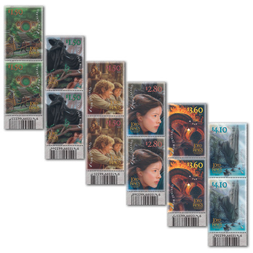 2021 The Lord of the Rings: The Fellowship of the Ring 20th Anniversary Set of Barcode A Blocks