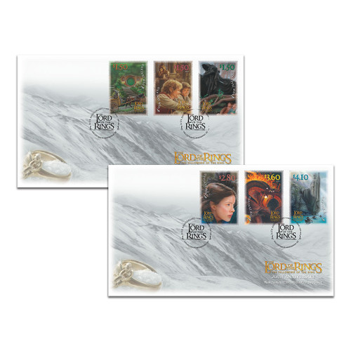 2021 The Lord of the Rings: The Fellowship of the Ring 20th Anniversary Set of First Day Covers