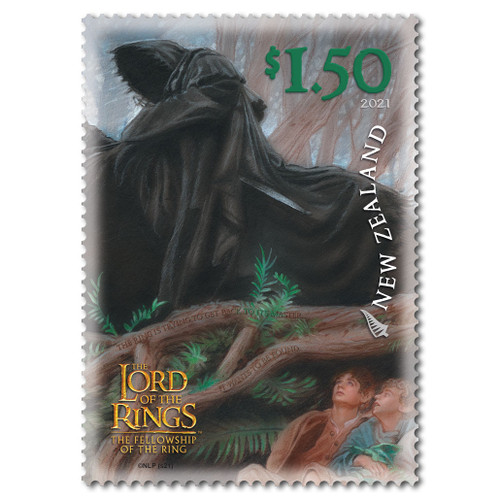 2021 The Lord of the Rings: The Fellowship of the Ring 20th Anniversary $1.50 Hiding from the Black Rider Stamp
