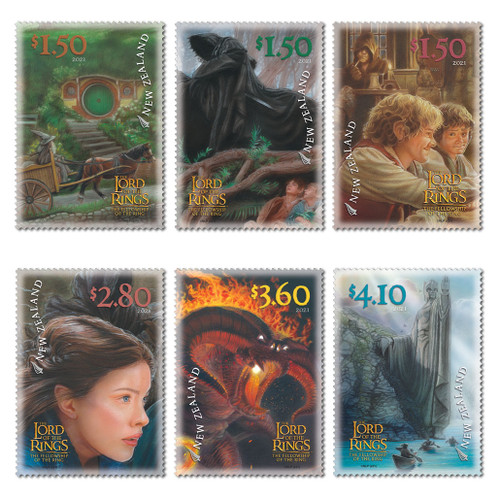 2021 The Lord of the Rings: The Fellowship of the Ring 20th Anniversary Set of Cancelled Stamps
