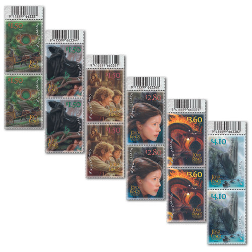 2021 The Lord of the Rings: The Fellowship of the Ring 20th Anniversary Set of Barcode B Blocks