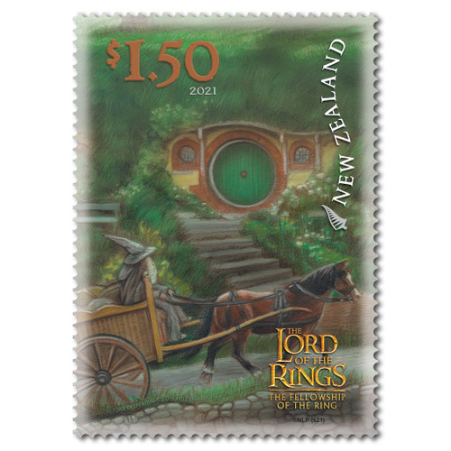 2021 The Lord of the Rings: The Fellowship of the Ring 20th Anniversary $1.50 The Journey Begins Stamp