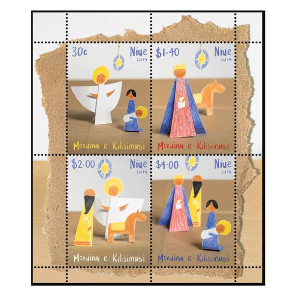 Niue Christmas 2019 gummed miniature sheet | NZ Post Collectables