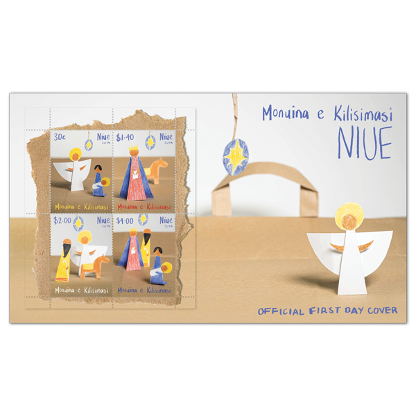 Niue Christmas 2019 miniature sheet first day cover | NZ Post Collectables