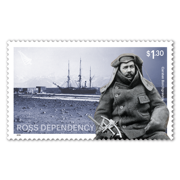 2019 Ross Dependency: Cape Adare single $1.30 Carsten Borchgrevink gummed stamp | NZ Post Collectables