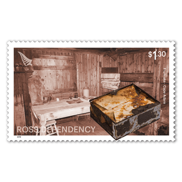 2019 Ross Dependency: Cape Adare single $1.30 Fruitcake gummed stamp | NZ Post Collectables