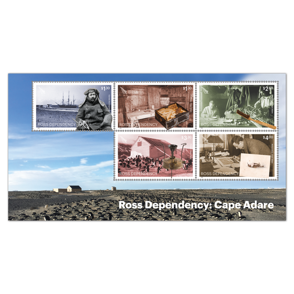 2019 Ross Dependency: Cape Adare gummed miniature sheet | NZ Post Collectables