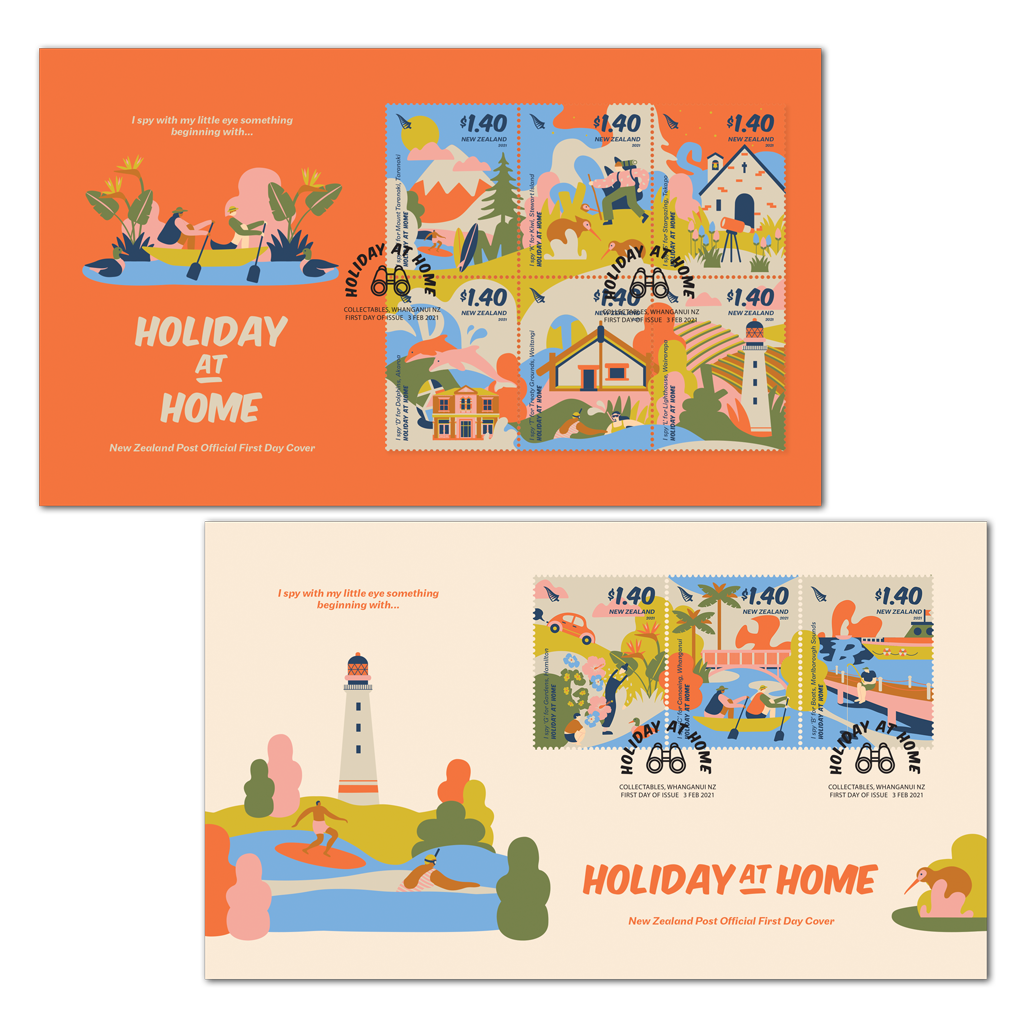 Holiday at Home set of two first day covers   NZ Post Collectables