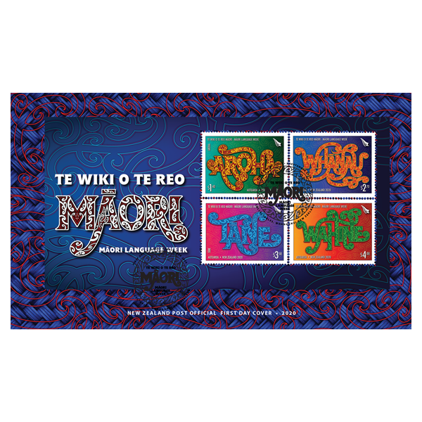 Te Wiki o te Reo Māori miniature sheet first day cover   NZ Post Collectables
