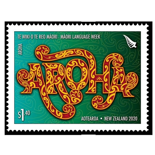 Te Wiki o te Reo Māori single $1.40 gummed stamp   NZ Post Collectables