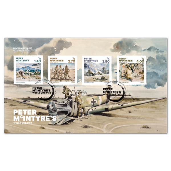 Peter McIntyre's World War Two first day cover | NZ Post Collectables