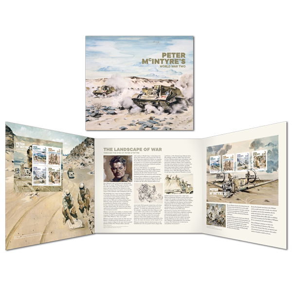 Peter McIntyre's World War Two presentation pack | NZ Post Collectables