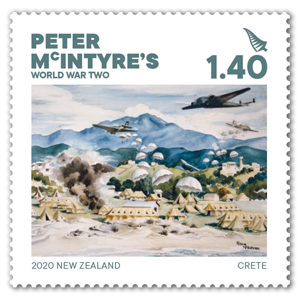 Peter McIntyre's World War Two single $1.40 gummed stamp | NZ Post Collectables