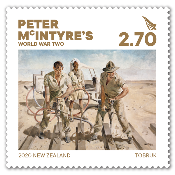 Peter McIntyre's World War Two single $2.70 gummed stamp | NZ Post Collectables