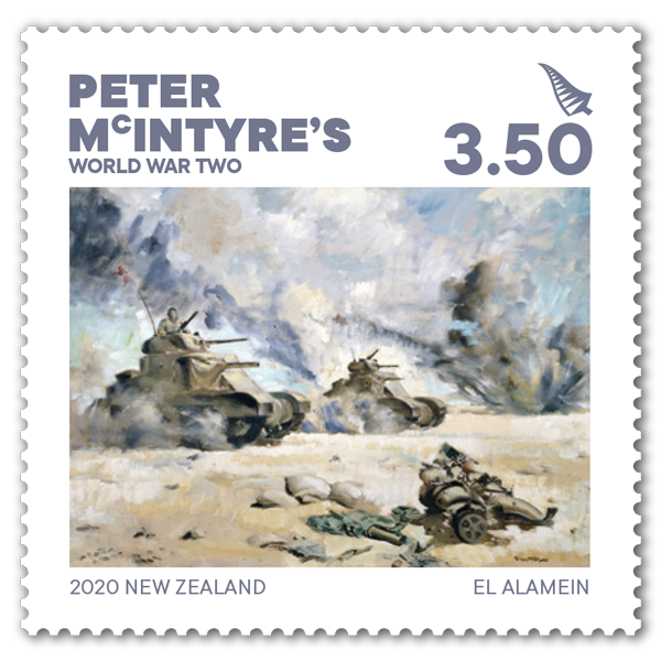 Peter McIntyre's World War Two single $3.50 gummed stamp | NZ Post Collectables