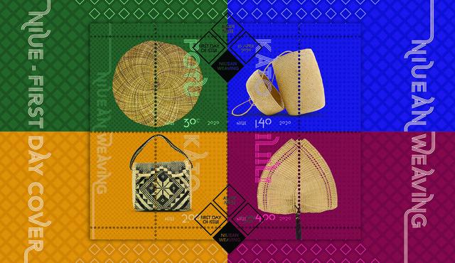 Niue Weaving 2020 miniature sheet first day cover