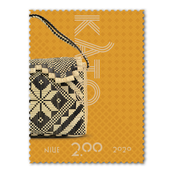 Niue Weaving 2020 single $2.00 gummed stamp | NZ Post Collectables