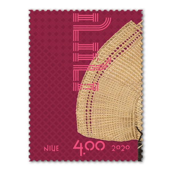 Niue Weaving 2020 single $4.00 gummed stamp | NZ Post Collectables