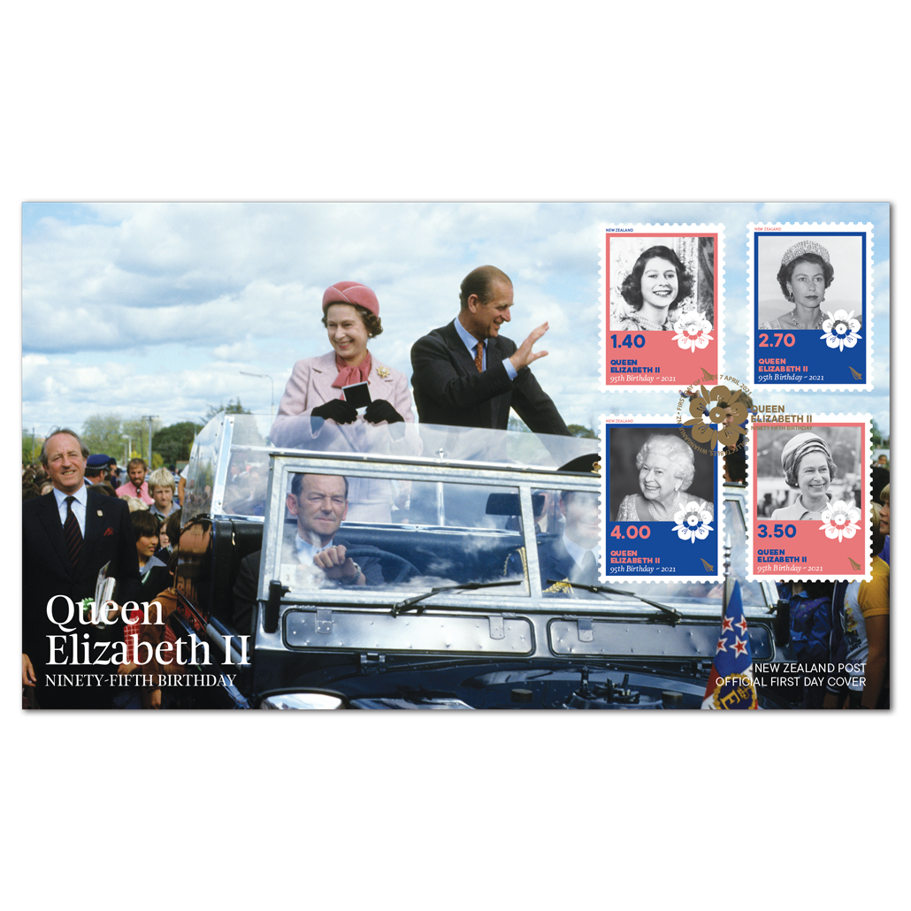 Queen Elizabeth II Ninety-Fifth Birthday first day cover | NZ Post Collectables