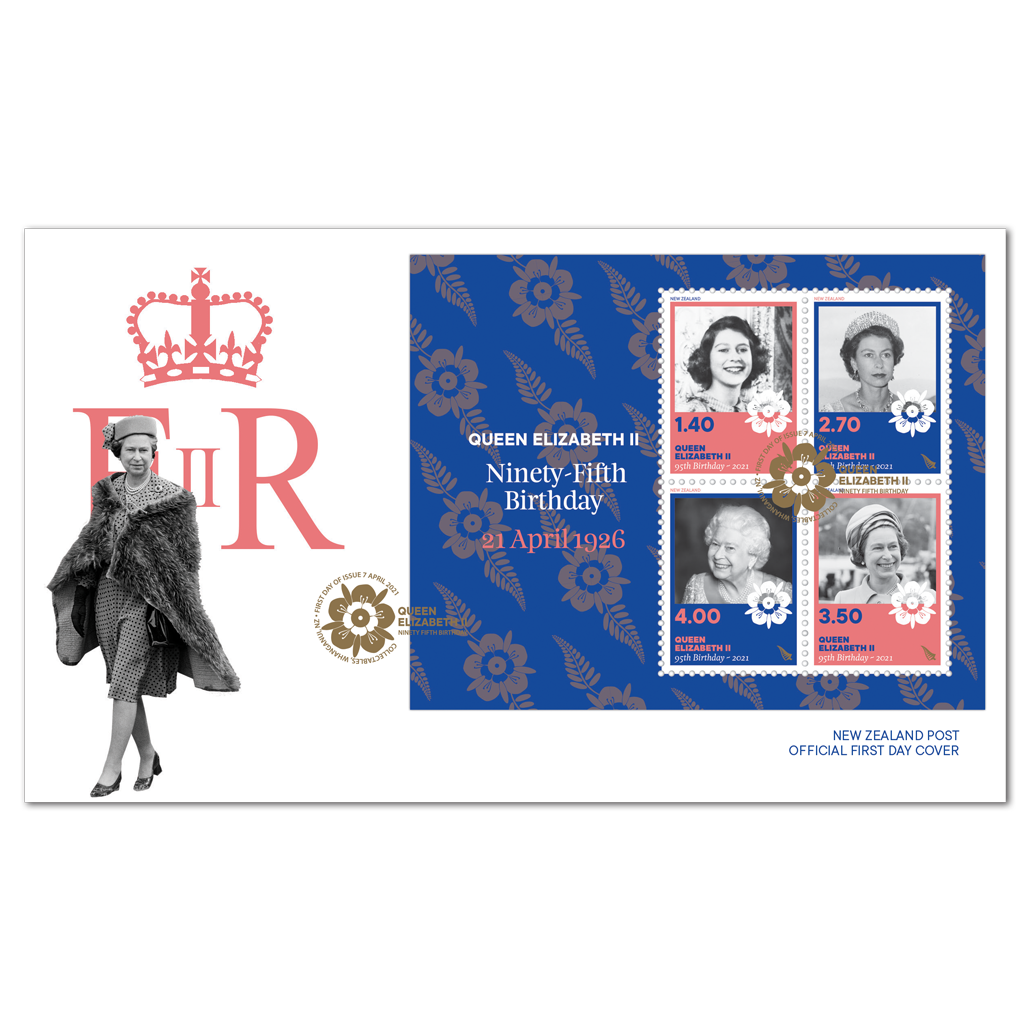 Queen Elizabeth II Ninety-Fifth Birthday miniature sheet first day cover | NZ Post Collectables